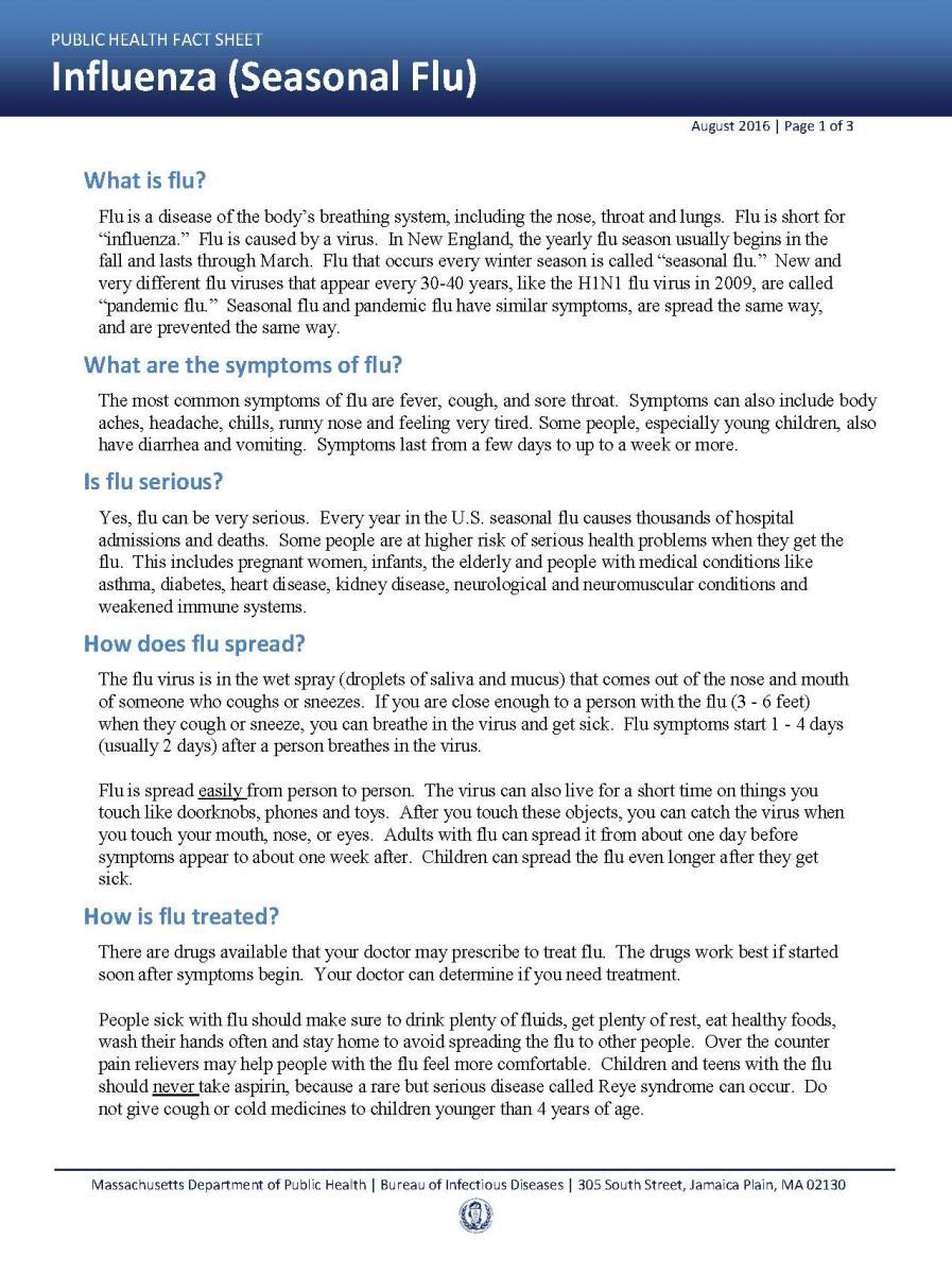 Flu Fact Sheet 1