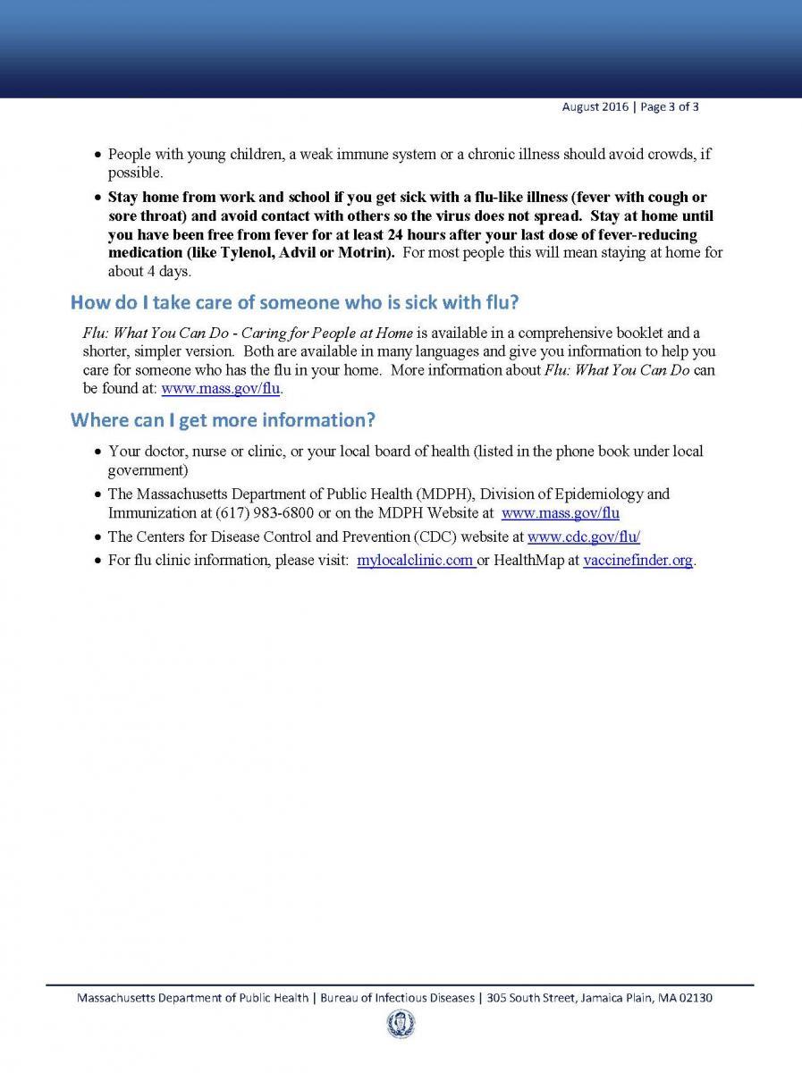 Flu Fact Sheet 3
