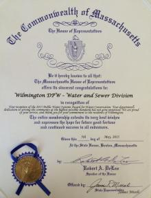 Water Conservation Award 2015