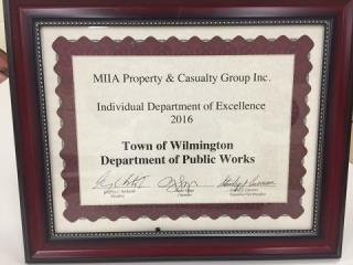 MIIA Dept of Excellence Award